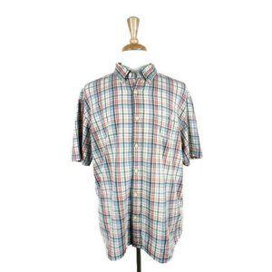 J.Crew Cream Plaid Button Down Shirt. Size: XL